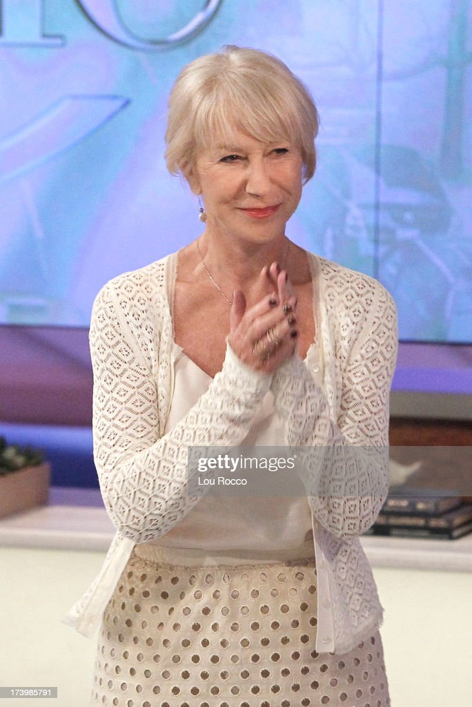 KATIE - 7/19/13 - Award-winning actress, Dame Helen Mirren visits KATIE, distributed by Disney-ABC Domestic Television. (Photo by Lou Rocco/Disney-ABC via Getty Images) DAME