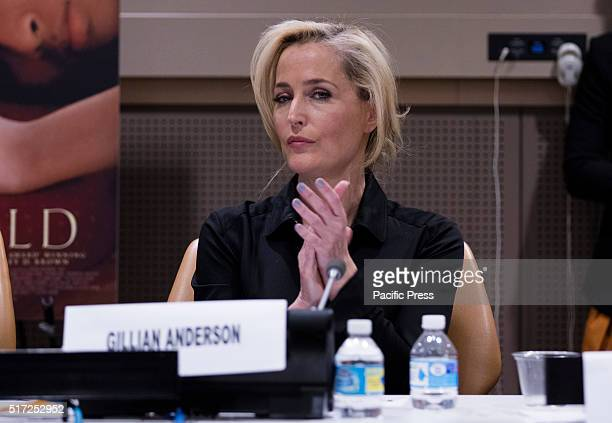 Awardwinning actress Gillian Anderson participated on a interactive panel discussion on the Role of the Arts in Helping to End Human Trafficking...