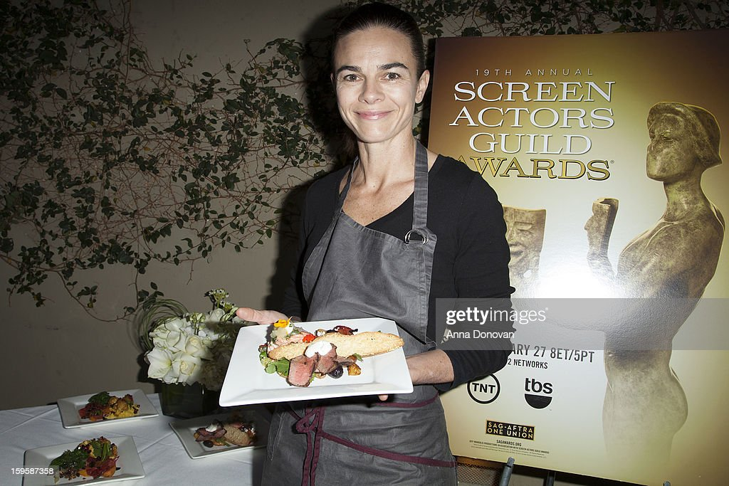 Award-winning chef Suzanne Goin at the menu tasting at Lucques Restaurant on January 16, 2013 in Los Angeles, California.