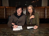 Awardwinning iconic songwriter and prolific singer Steven Tyler and Big Machine Label Group President and CEO Scott Borchetta sign a recording...