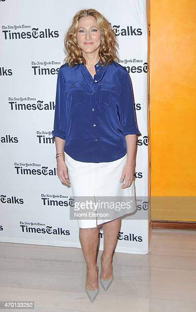 Awardwinning star of the series 'Nurse Jackie' Edie Falco joins TimesTalks at Times Center on April 17 2015 in New York City