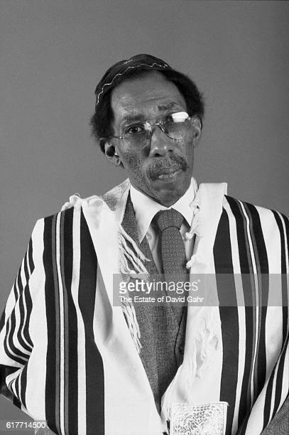 Awardwinning writer distinguished academic and teacher photographer and musician Julius Lester poses for a portrait celebrating his 1988 book...