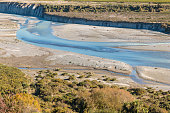 aerial view of Awatere river in New Zealand