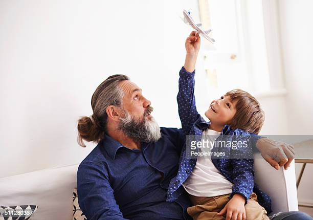 Awesome air maneuvers with grandpa