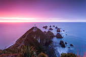 Awesome dawn, Nugget point lighthouse, New Zealand