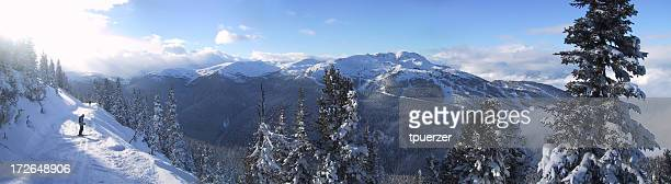 Awesome panorama of Whistler ski resort.