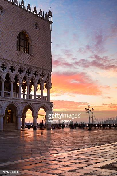 Awesome sunrise over St Marks square Venice Italy