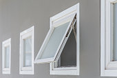awning window open, modern home aluminium push windows.