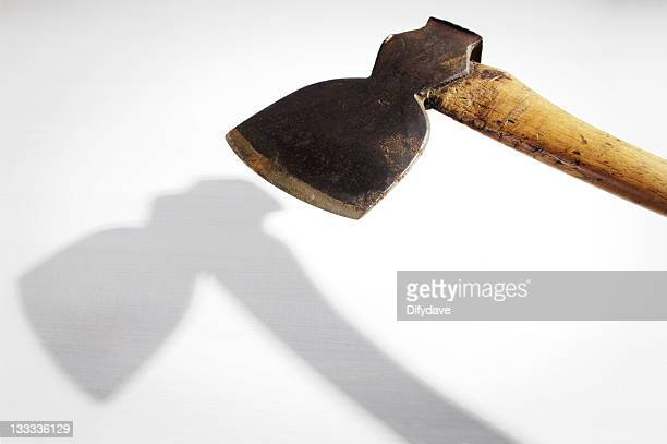 Axe With Shadow On White background