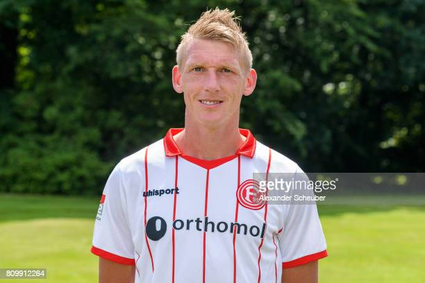 Axel Bellinghausen of Fortuna Duesseldorf poses during the team presentation at on July 6 2017 in Duesseldorf Germany