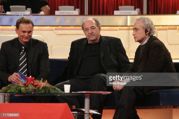 Axel Bulthaupt Ralph Siegel and Jose Carreras during Jose Carreras Gala Dress Rehearsal in Berlin Berlin Germany
