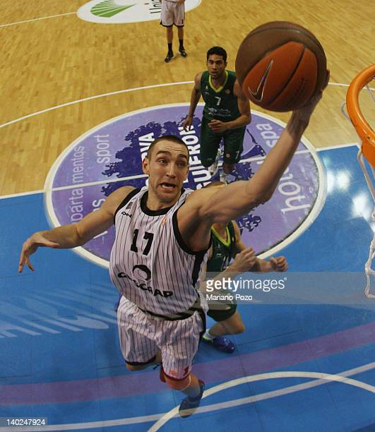 Axel Hervelle of Gescrap BB in action during 20112012 Turkish Airlines Euroleague TOP 16 Game Day 6 between Unicaja v Gescrap BB at Palacio Deportes...