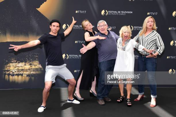 Axel HuetCharlie BruneauYves PignotMarie Vincent and Jeanne Savary from 'En famille' attend a photocall during the 57th Monte Carlo TV Festival Day 2...