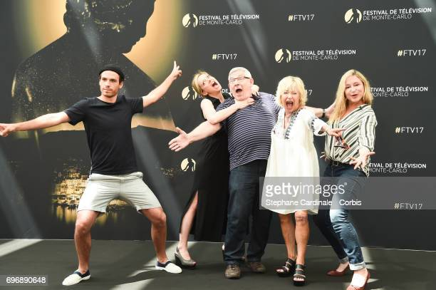 Axel HuetCharlie BruneauYves PignotMarie Vincent and Jeanne Savary from TV Show 'En famille' pose for a Photocall during the 57th Monte Carlo TV...