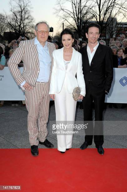 Axel Milberg Iris Berben and Oliver Berben attend the 48th Grimme Award on March 23 2012 in Marl Germany