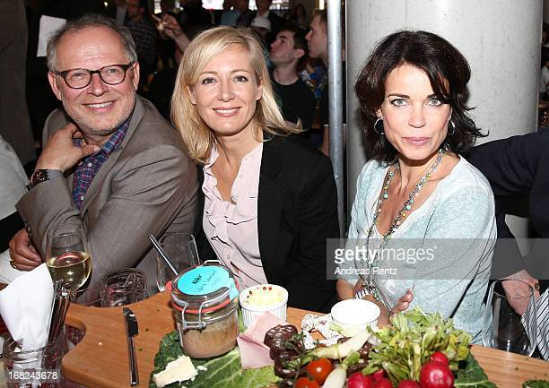 Axel Milberg Judith Milberg and Gerit Kling attend roofing ceremony at BMW new Berlin location at BMW Niederlassung Berlin on May 7 2013 in Berlin...