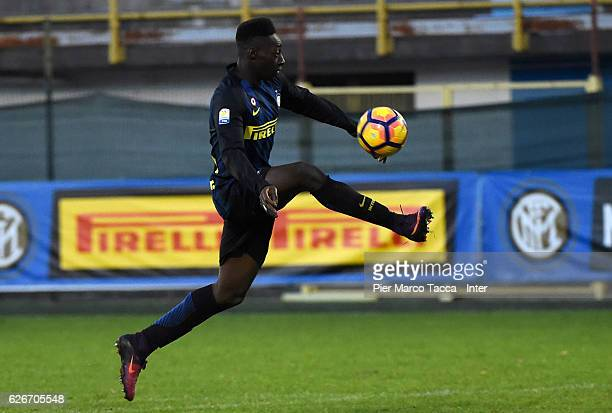 Axel Mohamed Bakayoko of FC Internazionale scores his first goal during the Primavera Tim juvenile match between FC Internazionale and Udinese Calcio...