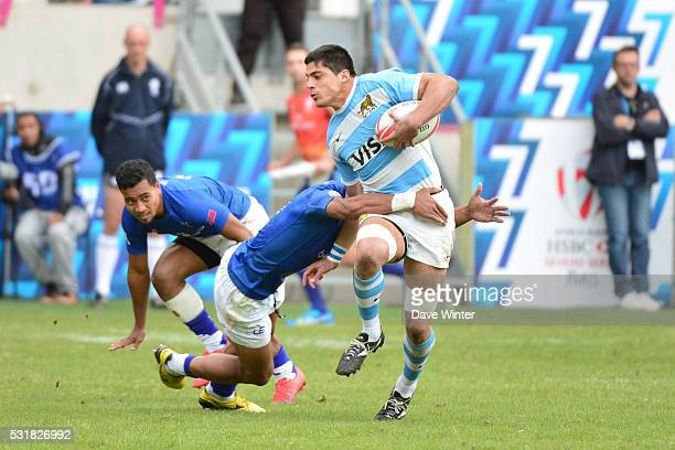 Axel Muller of Argentina during the HSBC PARIS SEVENS tournament at Stade Jean Bouin on May 15 2016 in Paris France