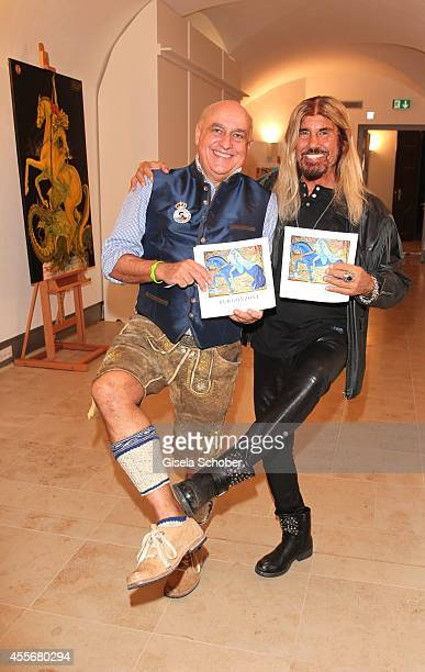 Axel Munz and Abi Ofarim attend the Exhibition Opening of Mauro Bergonzoli at Bayerisches Nationalmuseum on September 18 2014 in Munich Germany