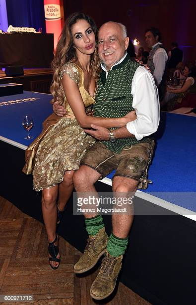 Axel Munz and Janina Youssefian during the Angermaier Kicks Off Oktoberfest Season With 'TrachtenNacht' on September 8 2016 in Munich Germany