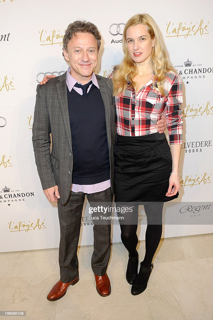 Axel Pape and guest attend Les Galeries Lafayettes Re-Open Ground Floor on November 14, 2012 in Berlin, Germany.