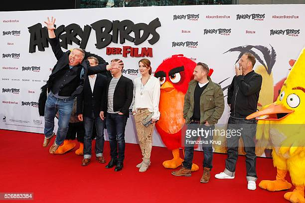Axel Prahl Michael Kessler Christoph Maria Herbst Ralf Schmitz Anja Kling Axel Stein and Smudo attend the 'Angry Birds Der Film' Premiere on May 1...