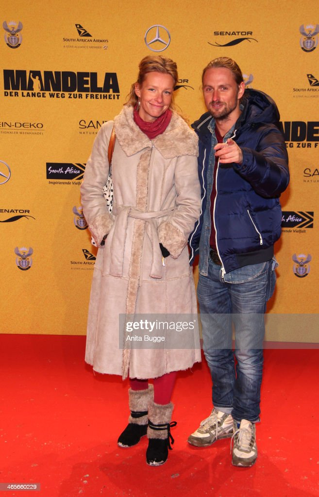 Axel Schreiber and Lydia Lucke attend the premiere of the film 'Mandela: Long Walk to Freedom' (Mandela: Der lange Weg zur Freiheit) at Zoo Palast on January 28, 2014 in Berlin, Germany.