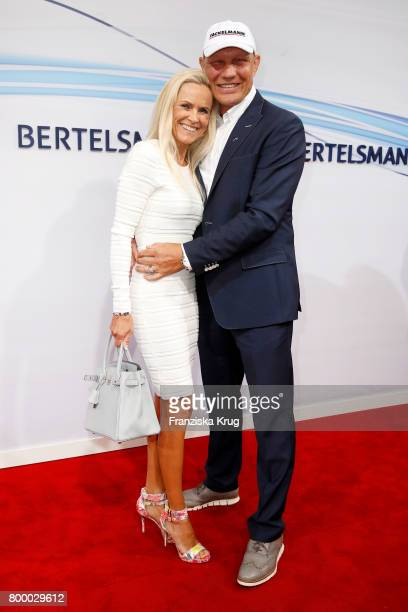 Axel Schulz and his girlfriend Patricia Schulz attend the 'Bertelsmann Summer Party' at Bertelsmann Repraesentanz on June 22 2017 in Berlin Germany