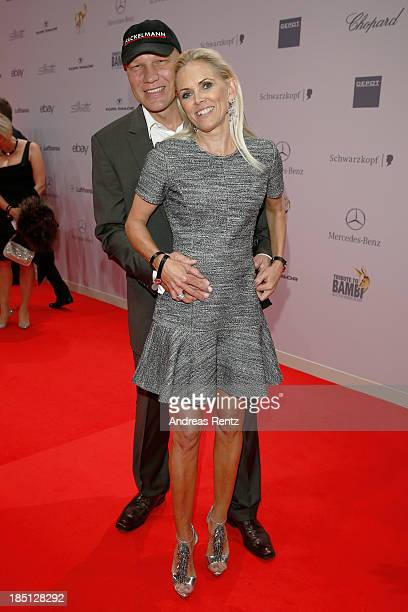Axel Schulz and his wife Patricia arrive at Tribute To Bambi at Station on October 17 2013 in Berlin Germany