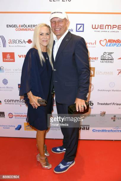 Axel Schulz and his wife Patricia Schulz attend the GRK Golf Charity Masters evening gala on August 19 2017 in Leipzig Germany