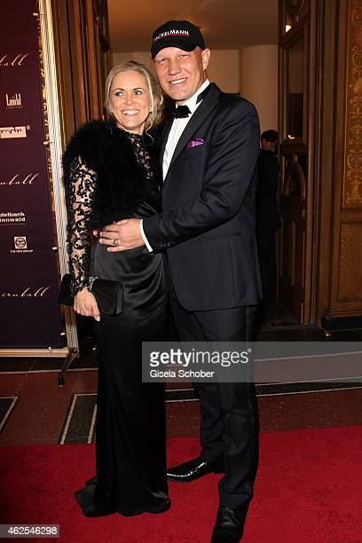 Axel Schulz and his wife Patrizia during the Semper Opera Ball 2015 at Semperoper on January 30 2015 in Dresden Germany