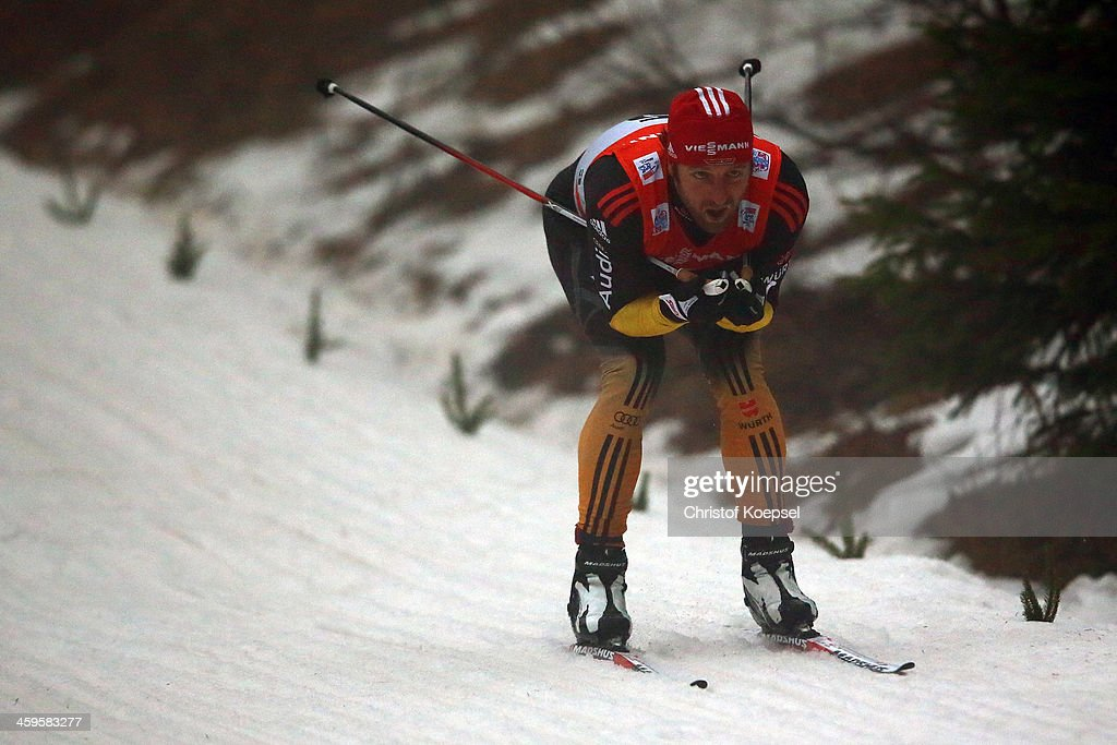 <a gi-track='captionPersonalityLinkClicked' href=/galleries/search?phrase=Axel+Teichmann&family=editorial&specificpeople=773876 ng-click='$event.stopPropagation()'>Axel Teichmann</a> of Germany competes in the Men's Prologue 4.5km free individual at the Viessmann FIS Cross Country World Cup event at DKB Ski Arena on December 28, 2013 in Oberhof, Germany.