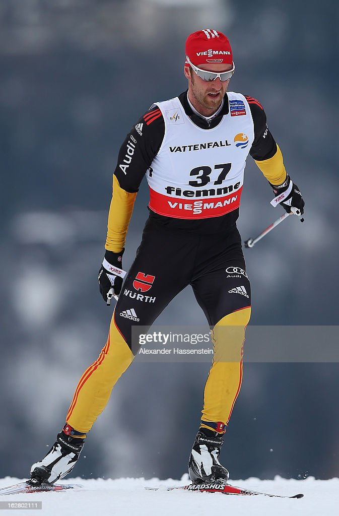 Axel Teichmann of Germany in action during the Men's Cross Country Individual 15km at the FIS Nordic World Ski Championships on February 27, 2013 in Val di Fiemme, Italy.