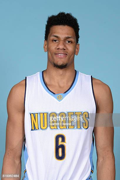 Axel Toupane of the Denver Nuggets pose for a head shot on March 11 2016 at the Pepsi Center in Denver Colorado NOTE TO USER User expressly...