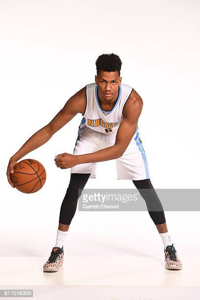 Axel Toupane of the Denver Nuggets poses for a portrait during media day on September 26 2016 at the Pepsi Center in Denver Colorado NOTE TO USER...