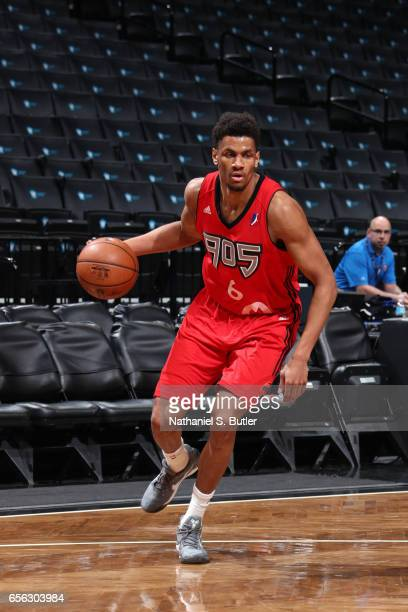 Axel Toupane of the Raptors 905 handles the ball against the Long Island Nets during an NBA DLeague game on March 19 2017 at Barclays Center in...