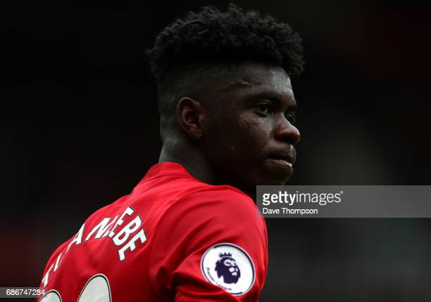 Axel Tuanzebe of Manchester United during the Premier League match between Manchester United and Crystal Palace at Old Trafford on May 21 2017 in...