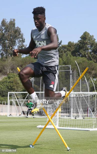 Axel Tuanzebe of Manchester United in action during a first team training session as part of their preseason tour of the USA at UCLA on July 12 2017...