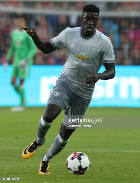 Axel Tuanzebe of Manchester United in action during the preseason friendly match between Valerenga and Manchester United at Ullevaal Stadion on July...