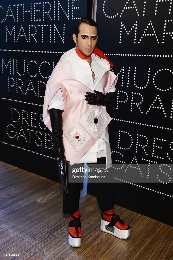 Axel Vasquez attends Catherine Martin And Miuccia Prada Dress Gatsby Opening Cocktail on April 30, 2013 in New York City.