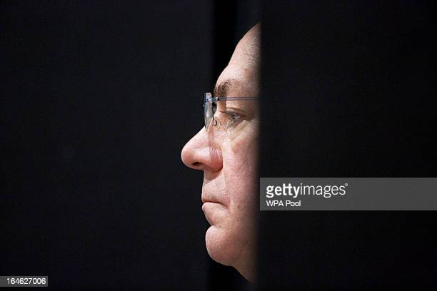 Axel Weber chairman of UBS AG listens during a financial and economic event at the London School of Economics on March 25 2013 in London England The...