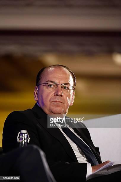 Axel Weber chairman of UBS AG listens to a speaker during the Institute Of International Finance spring meeting in London UK on Thursday June 5 2014...