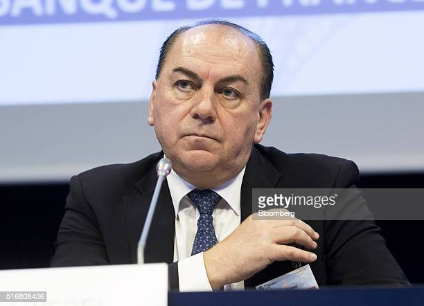 Axel Weber chairman of UBS AG looks on during a conference at the Bank of France in Paris France on Monday March 21 2016 Targeted longterm...