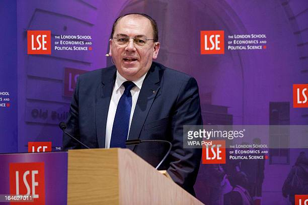Axel Weber chairman of UBS AG speaks during a financial and economic event at the London School of Economics on March 25 2013 in London England The...