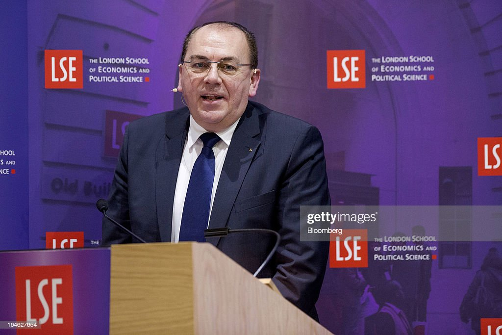 Axel Weber, chairman of UBS AG, speaks during a financial and economic event at the London School of Economics (LSE) in London, U.K., on Monday, March 25, 2013. The European Union's decision to recapitalize Cypriot banks by inflicting losses on depositors and senior bondholders is triggering investor concern about the knock-on effects for bank funding across the region. Photographer: Jason Alden/Bloomberg via Getty Images