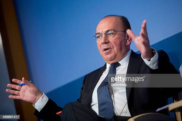 Axel Weber chairman of UBS AG speaks during a panel discussion at the Peterson Institute for International Economics in Washington DC US on Wednesday...