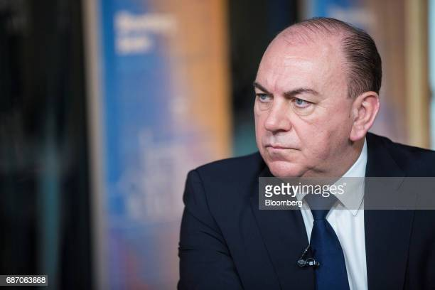 Axel Weber chairman of UBS Group AG pauses during a Bloomberg Television interview in Berlin Germany on Tuesday May 23 2017 Growth in Europe...