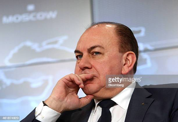 Axel Weber chairman of UBS Group AG pauses during a session on the opening day of the World Economic Forum in Davos Switzerland on Wednesday Jan 21...