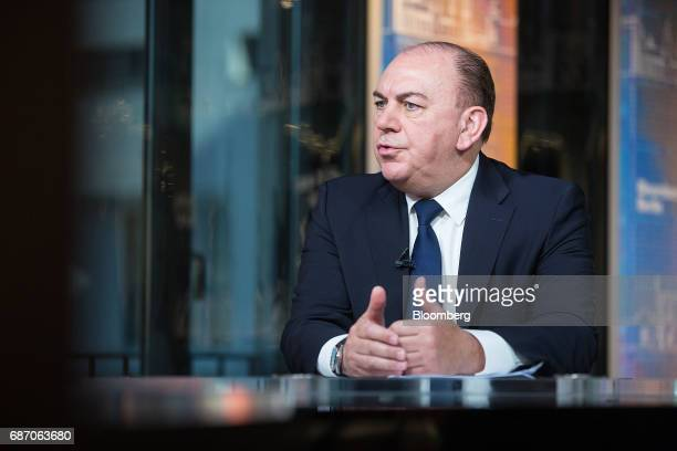 Axel Weber chairman of UBS Group AG speaks during a Bloomberg Television interview in Berlin Germany on Tuesday May 23 2017 Growth in Europe...