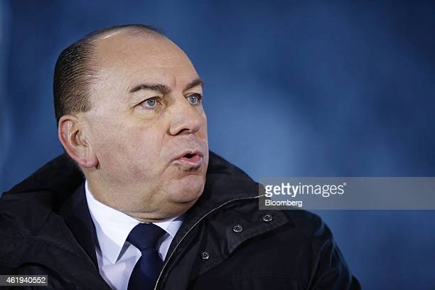 Axel Weber chairman of UBS Group AG speaks during a Bloomberg Television interview on day two of the World Economic Forum in Davos Switzerland on...